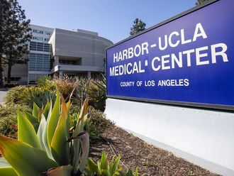 General view of Harbor-UCLA medical Center, were Tiger Woods was taken following a single vehicle accident, in Torrance, California.