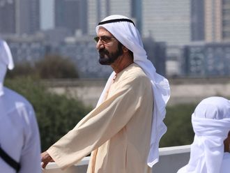 His Highness Sheikh Mohammed bin Rashid Al Maktoum, Vice President and Prime Minister of the UAE and Ruler of Dubai, cheered on riders during Stage 6 of the third edition of UAE Tour.