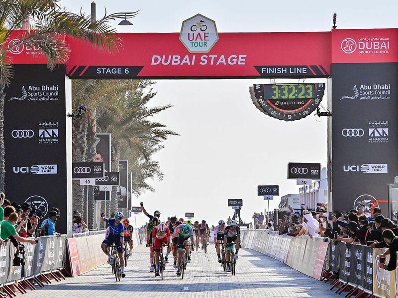 Sam Bennet of Ireland won Stage 6 of the UAE Tour 2021