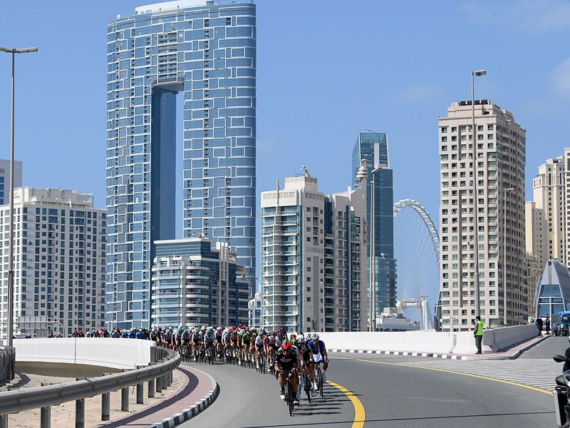 Sam Bennett of Ireland won Stage 6 of the UAE Tour 2021