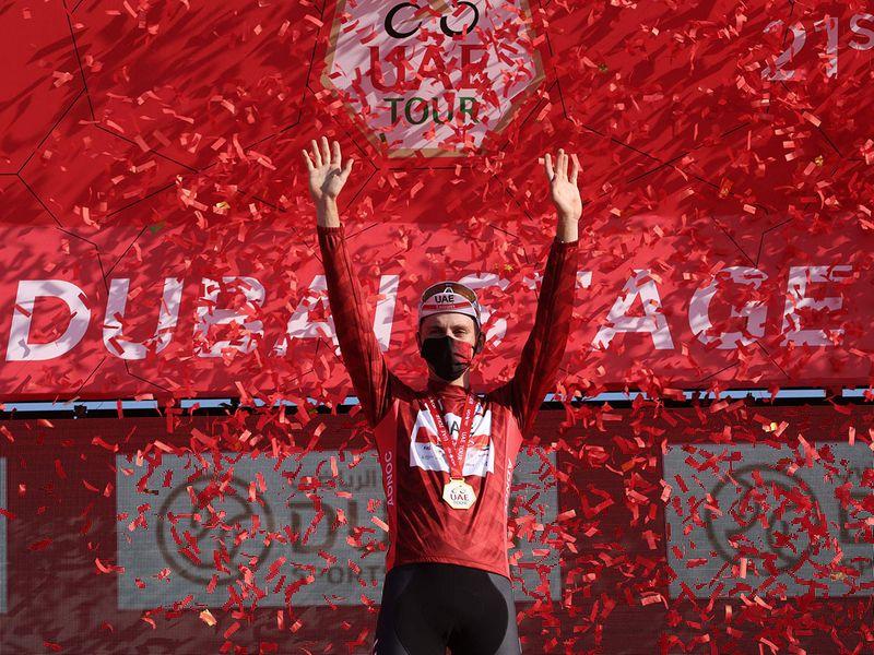 Tadej Pogacar is poised to win the UAE Tour 2021