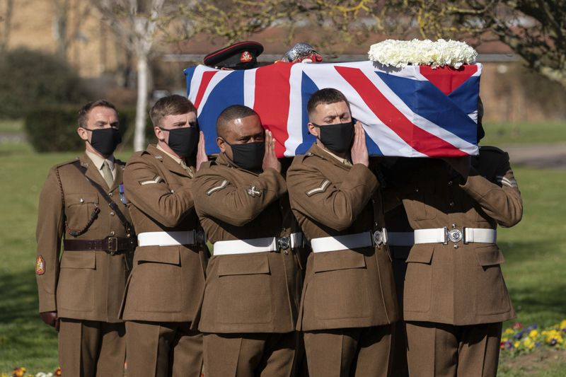 World War Two plane flypast marks Captain Tom Moore's funeral