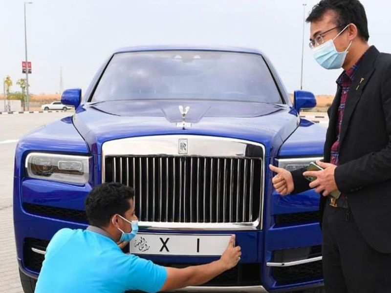 Chinese man buys number 1 plate in rak and also bought new rolls Royce for it