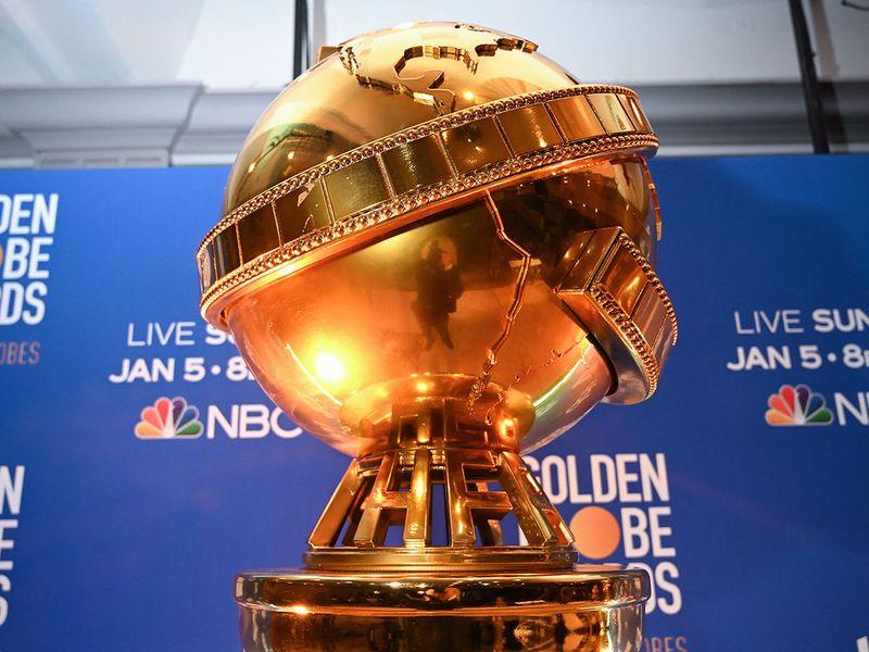 Giant Golden Globe trophy