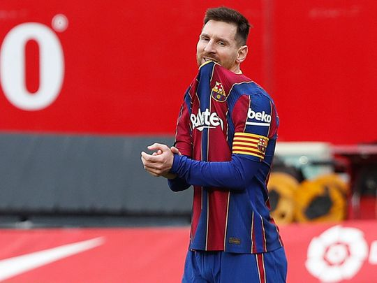 Lionel Messi starred for Barcelona
