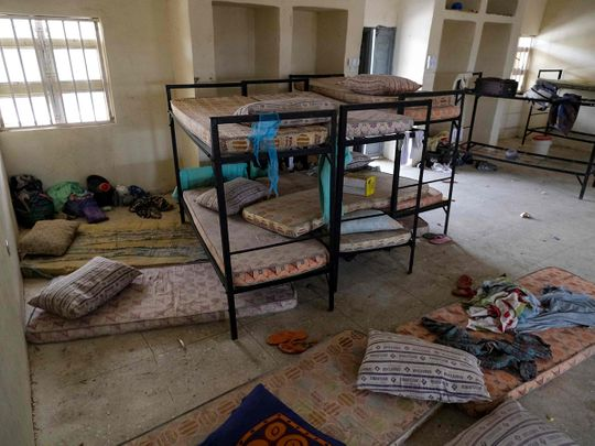 The deserted dormitory is pictured at the Government Girls Secondary School, the day after the abduction of over 300 schoolgirls by gunmen in Jangebe, a village in Zamfara State, northwest of Nigeria on February 27, 2021.