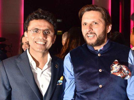 Anis Sajan with Shahid Afridi