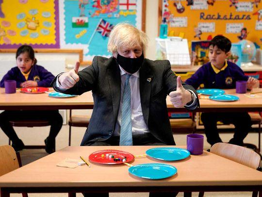 Boris Johnson British PM school