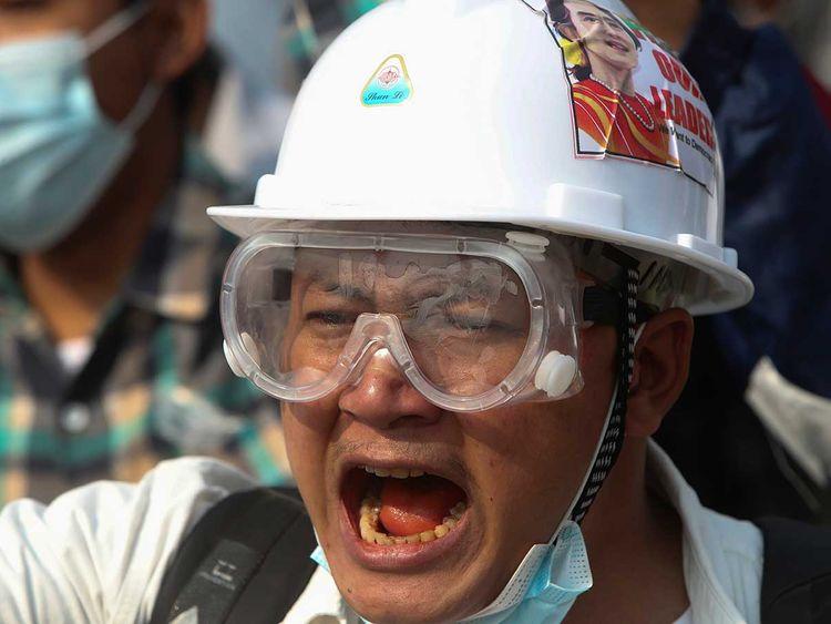 Protester Myanmar