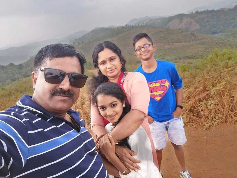 Rajeev Pillai with his family.