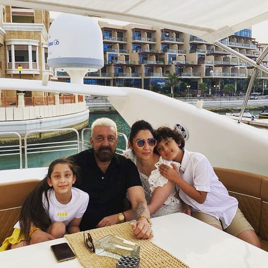 Sanjay Dutt and family