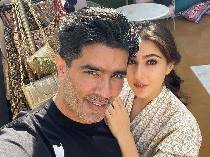 Sara Ali Khan and Manish Malhotra