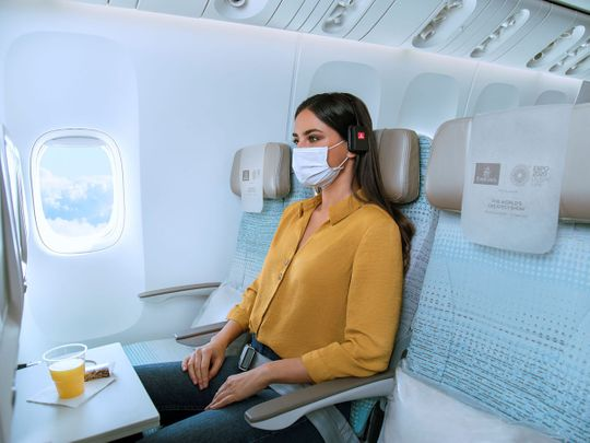 Stock Emirates airlines seat
