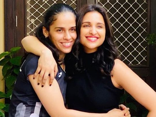 Saina Nehwal and Parineeti Chopra