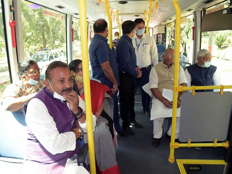 Bihar launches zero-emission e-buses to cut pollution