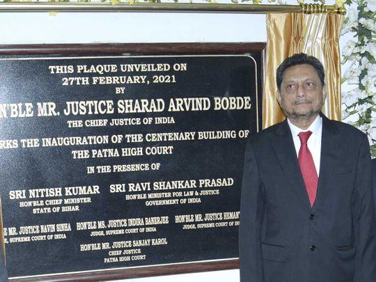 Chief Justice of India Justice Sharad Arvind Bobde