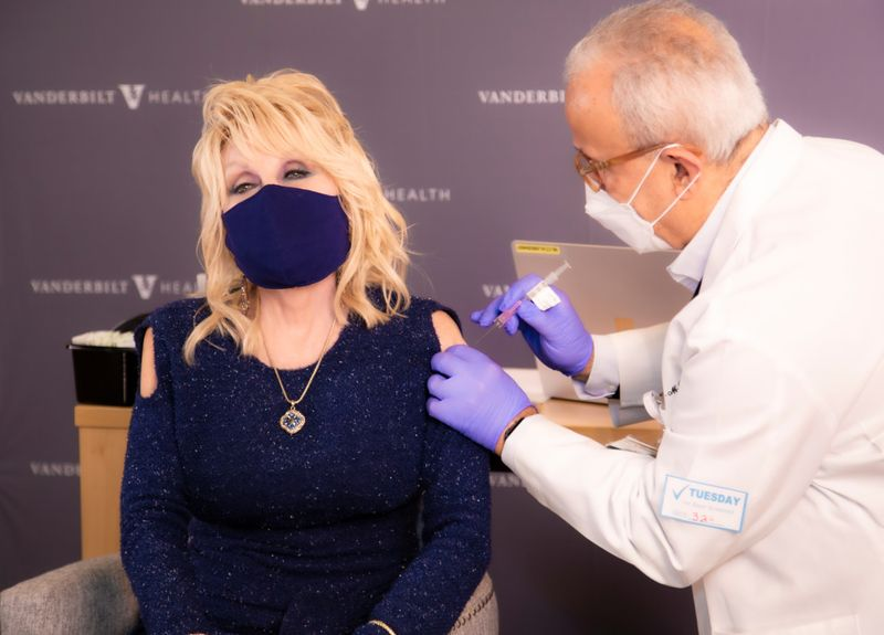 Dolly Parton celebrates getting COVID-19 vaccine with 'Jolene' twist