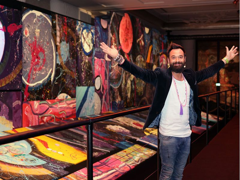 UK artist Sacha Jafri explains his Guinness World Record-holding painting in UAE, 'The Journey of Humanity'