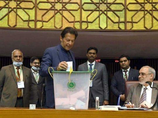 Pakistan Prime Minister Imran Khan Senate