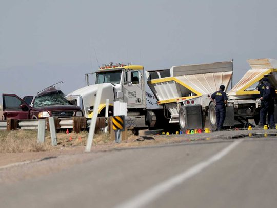 US mexico car truck crash collision