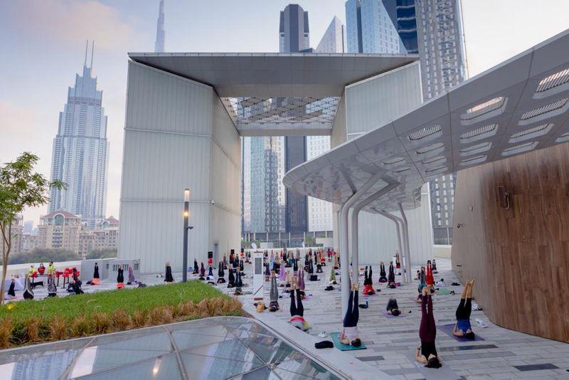 inspire outdoor yoga