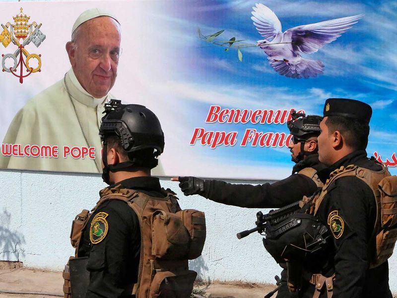 Iraq security Pope visit