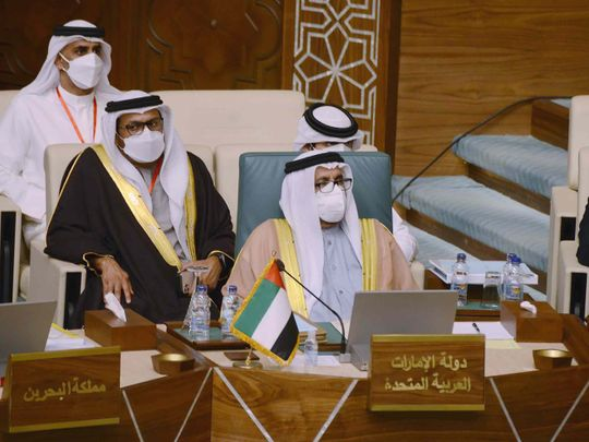 Khalifa Shaheen Al Marar, Minister of State, leads the UAE's  delegation at  the Arab League's (AL) ministerial meeting