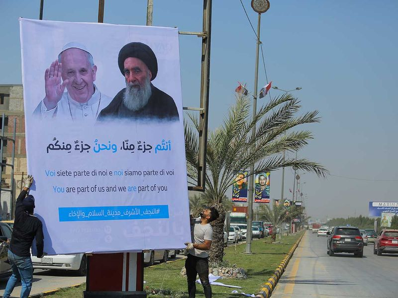 Pope Francis  Ali Al Sistani Iraq