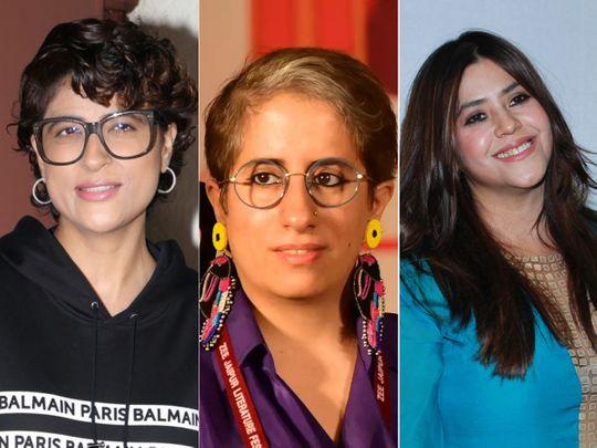Tahira Kashyap, Guneet Monga and Ekta Kapoor