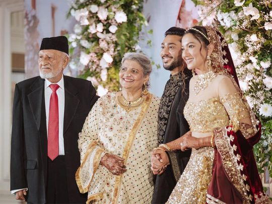 Gauahar Khan with her father and family