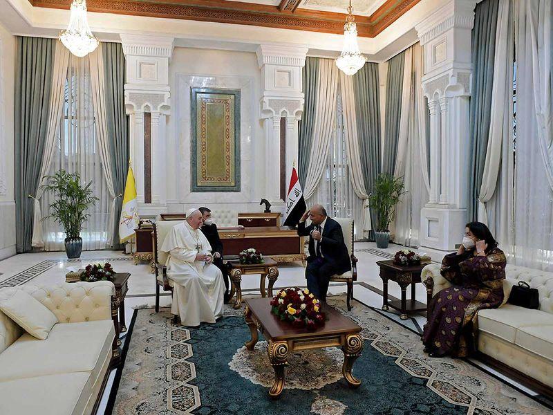 Iraqi President Barham Saleh Pope Francis