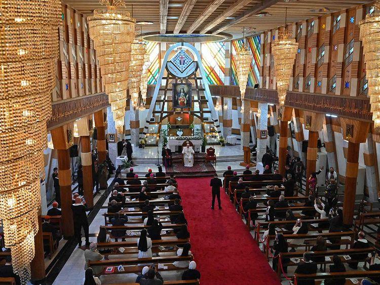 Pope Francis sermon Iraq church