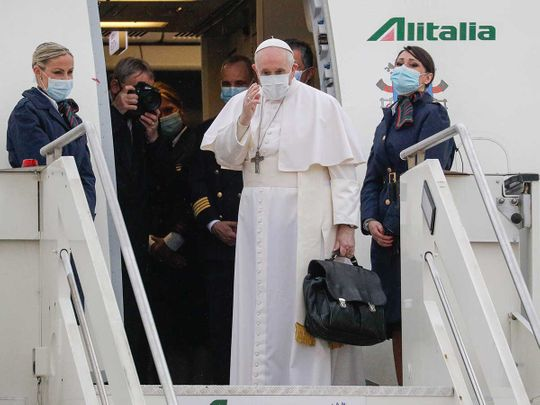 Pope francis italy airport