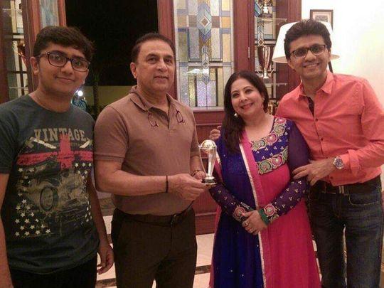 Anis Sajan with Gavaskar