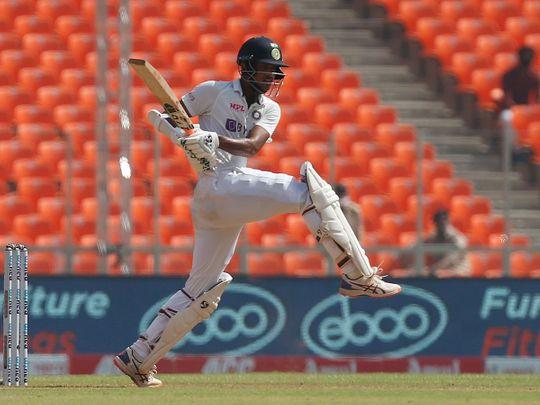 Washington Sundar in action for India against England