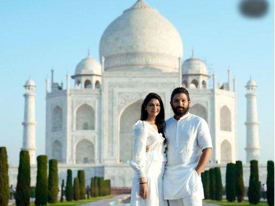 Allu Arjun with wife Sneha Reddy