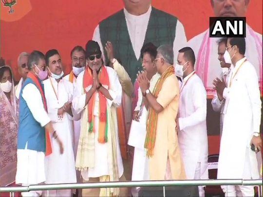 Mithun Chakraborty at Modi rally