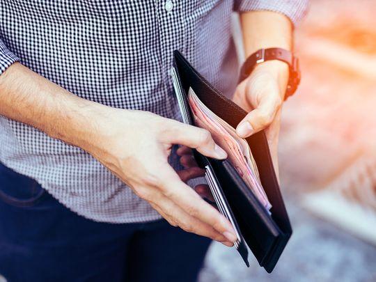 STOCK salary wallet money
