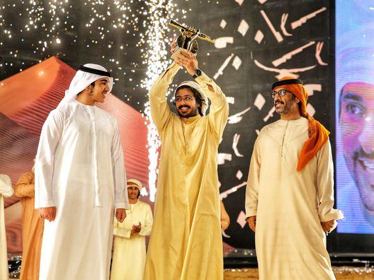 Sheikh Mohammed Bin Rashid bin Mohammed Al Maktoum awarding Fazza Cup to...-1615097875740
