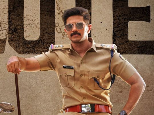 Dulquer Salmaan in the poster for 'Salute'