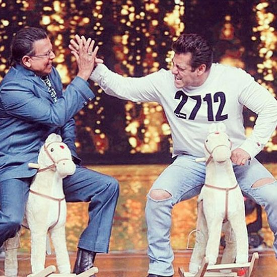 Mithun Chakraborty and Salman Khan