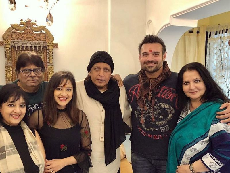 Mithun Chakraborty with his family