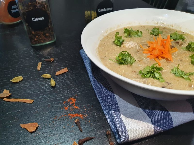 Savoury rice porridge