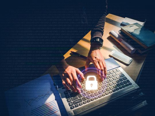 Stock cyber crime hacking