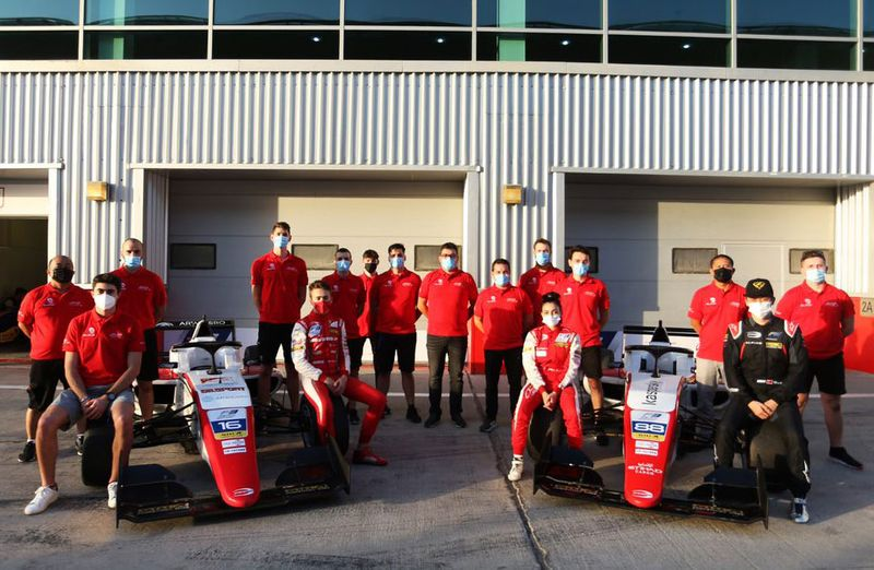 The Abu Dhai Racing F3 team