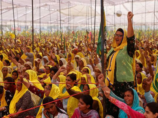 Women farmers protest India