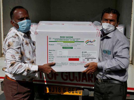 India vaccine AstraZeneca's COVISHIELD