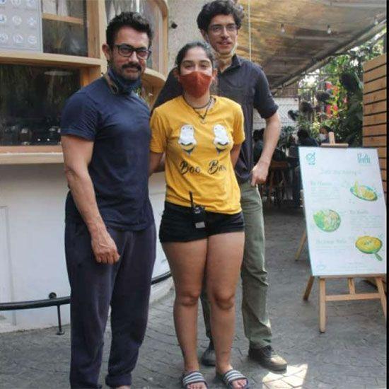 Aamir Khan , Ira Khan and Junaid Khan