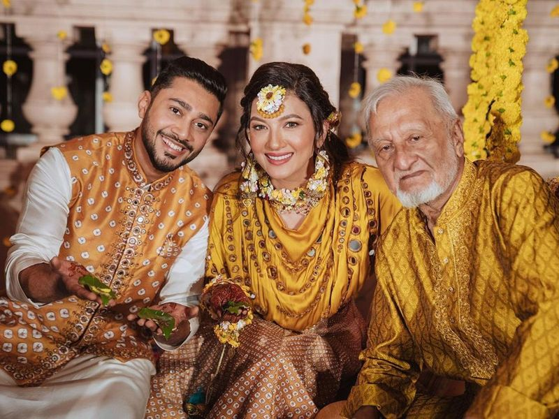 Gauhar Khan, Zaid Darbar, and Gauhar Khan's father
