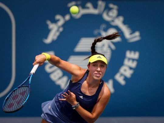Jessica Pegula caused another upset at the Dubai Duty Free Tennis Championships